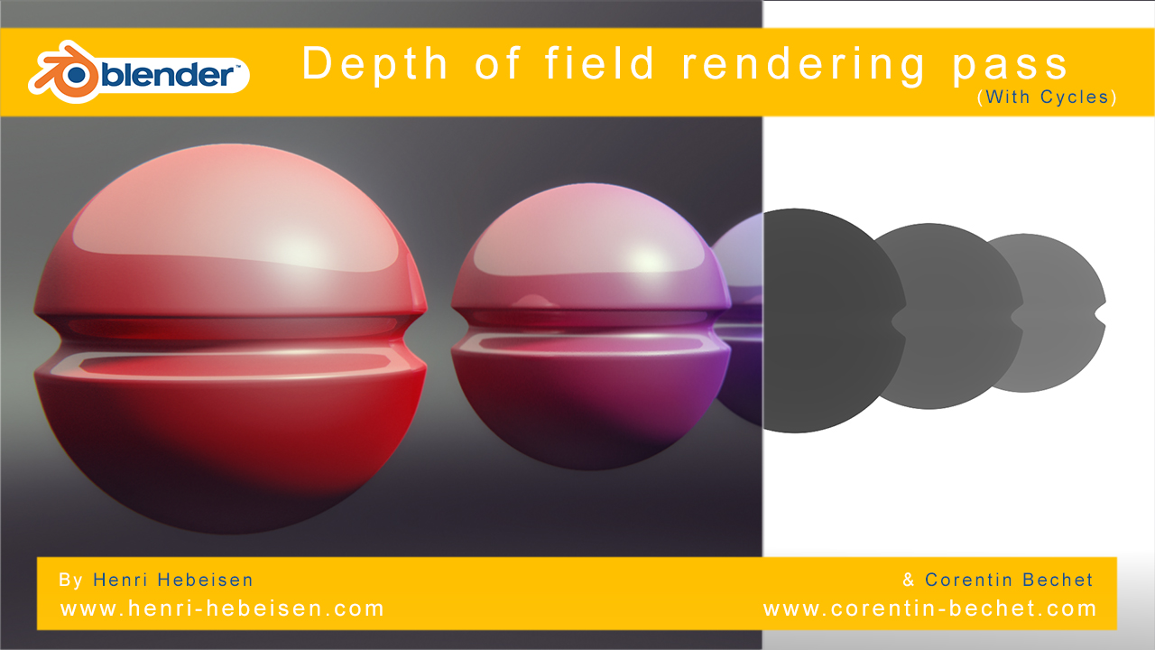 V1] – Rendering pass Zdepth with Blender Cycles ! – Material free